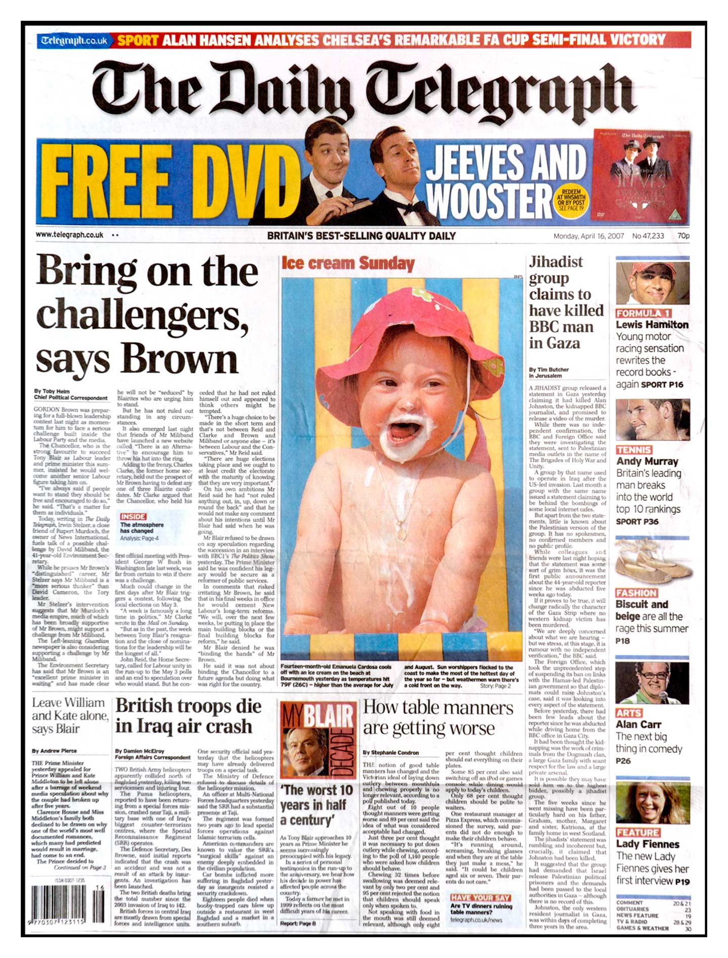 Peter Willows Photographer dorset weddings press & pr daily-telegraph-front-deckchair
